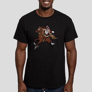 Happy Santa Men's Fitted T-Shirt (dark)