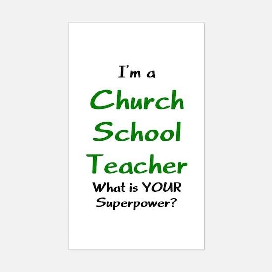 Church School Teacher Sticker (Rectangle)