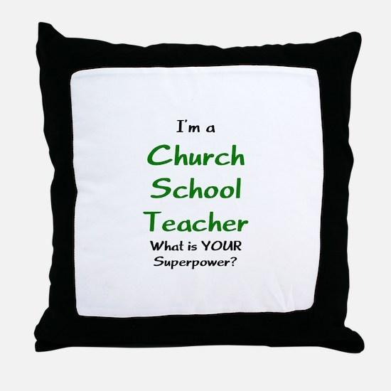 church school teacher Throw Pillow