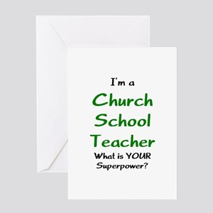 church school teacher Greeting Card