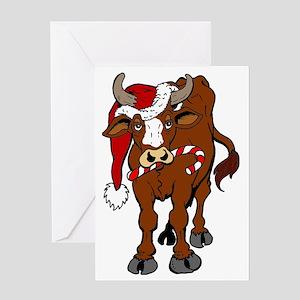 christmas-cow Greeting Card