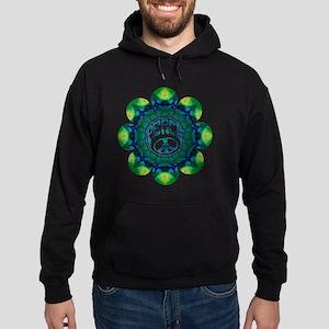 Peace Flower - Meditation Hoodie (dark)