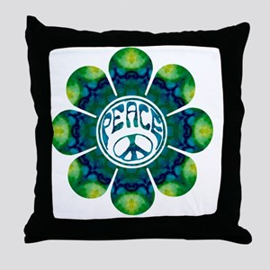 Peace Flower - Meditation Throw Pillow