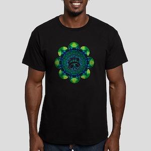 Peace Flower - Meditat Men's Fitted T-Shirt (dark)
