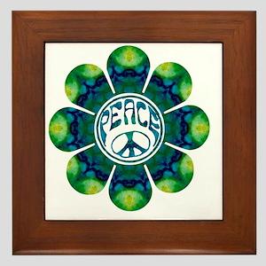 Peace Flower - Meditation Framed Tile