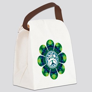 Peace Flower - Meditation Canvas Lunch Bag