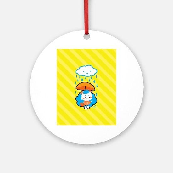 rainyday_notecards Round Ornament