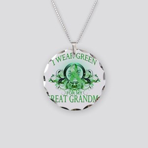 I Wear Green for my Great Gr Necklace Circle Charm