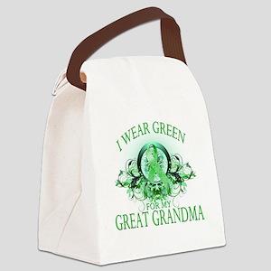 I Wear Green for my Great Grandma Canvas Lunch Bag