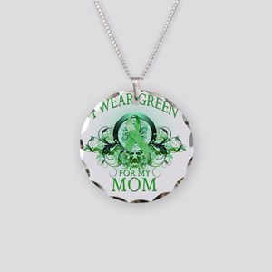 I Wear Green for my Mom (flo Necklace Circle Charm