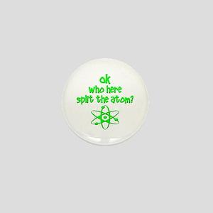 funny nuclear fart joke Mini Button