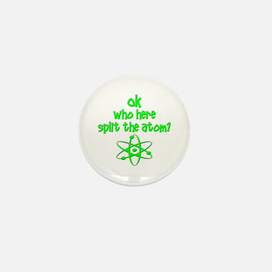 funny nuclear fart joke Mini Button