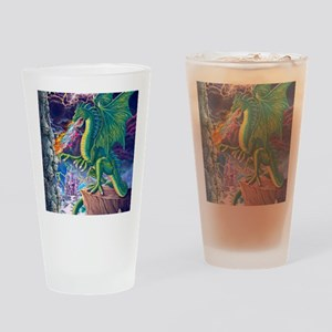 Dragons_Lair_16x20 Drinking Glass
