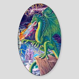 Dragons_Lair_16x20 Sticker (Oval)