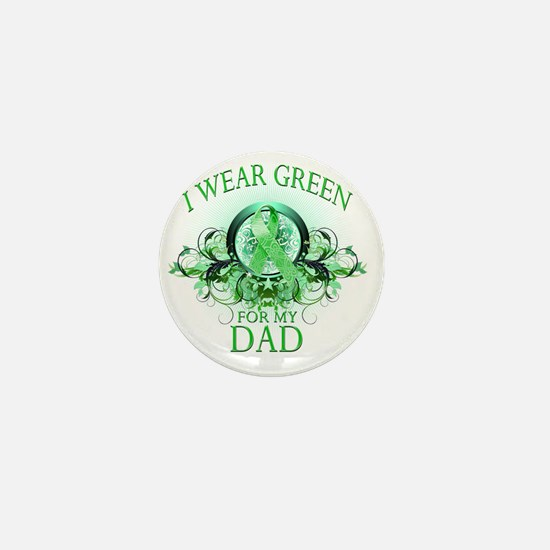 I Wear Green for my Dad (floral) Mini Button