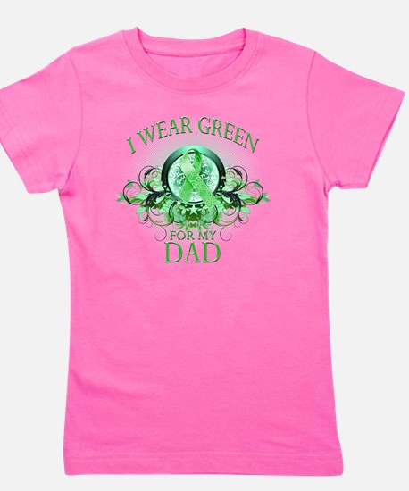 I Wear Green for my Dad (floral) Girl's Tee