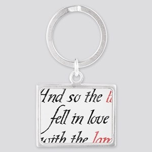 And So The Lion Fell In Love Wi Landscape Keychain