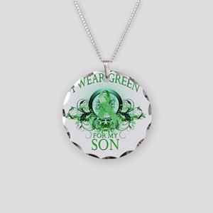 I Wear Green for my Son (flo Necklace Circle Charm