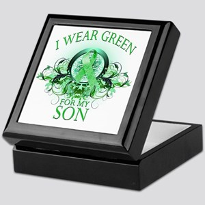 I Wear Green for my Son (floral) Keepsake Box