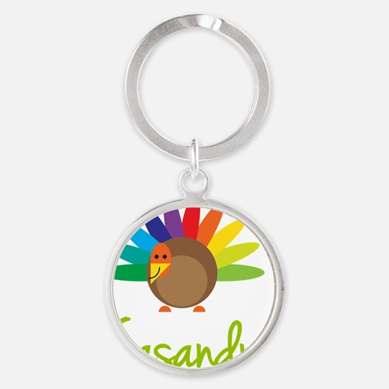 Casandra-the-turkey Round Keychain