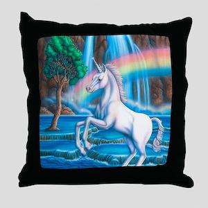 Rainbow_Unicorn_16x20 Throw Pillow