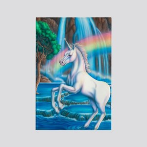 Rainbow_Unicorn_16x20 Rectangle Magnet