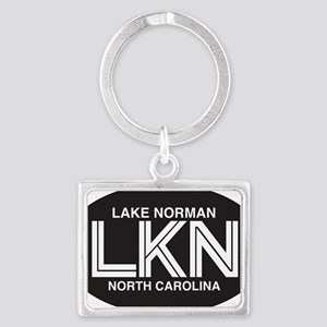 Lake Norman Oval Sticker Landscape Keychain