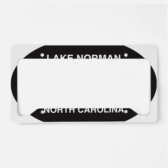 Lake Norman Oval Sticker License Plate Holder
