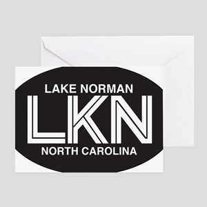 Lake Norman Oval Sticker Greeting Card