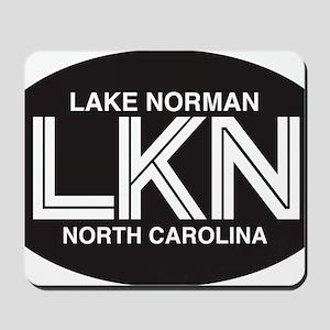 Lake Norman Oval Sticker Mousepad