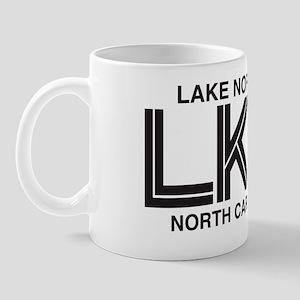 Lake Norman Oval Sticker Mug