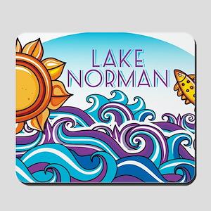 Lake Norman Waves  Sun Mousepad