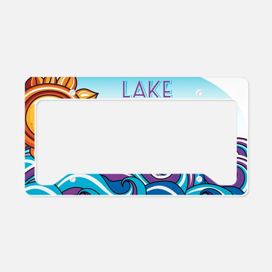 Lake Norman Waves  Sun License Plate Holder