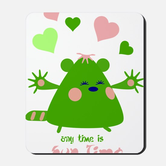 hugtime-green Mousepad