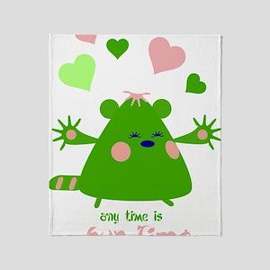hugtime-green Throw Blanket