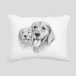 Goldens_Retrievers Rectangular Canvas Pillow