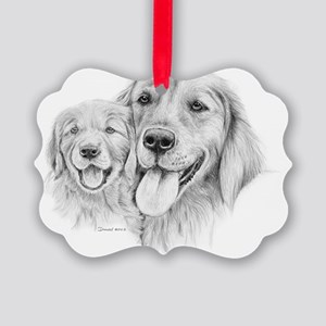 Goldens_Retrievers Picture Ornament