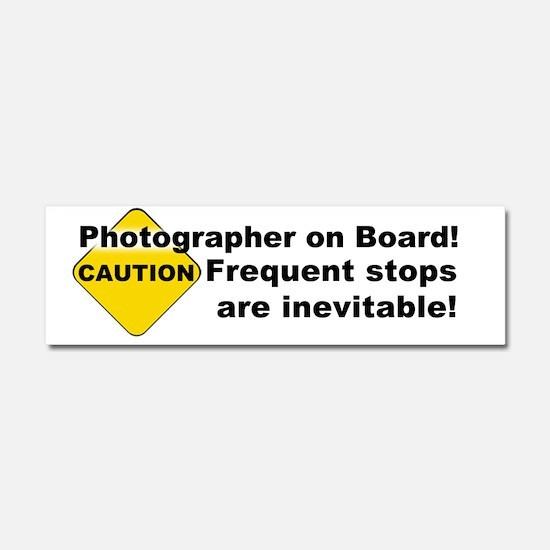 Caution Car Magnet 10 x 3
