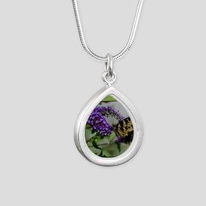 ButterflyhbdayDaughterin Silver Teardrop Necklace