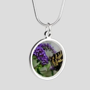 ButterflyhbdayDaughterinlaw Silver Round Necklace