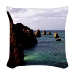 Portugal Ocean Woven Throw Pillow