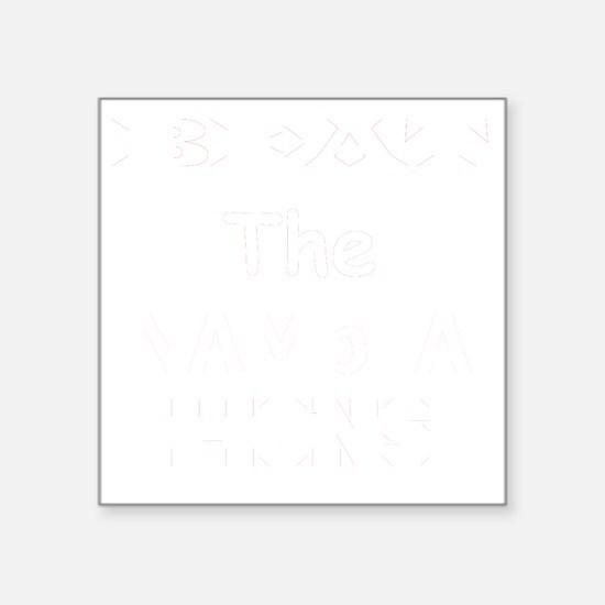 "White Square Sticker 3"" x 3"""