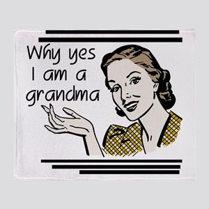 whyyesgrandma Throw Blanket