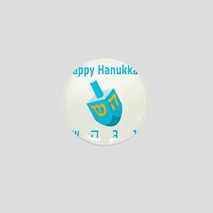 Dreidel 7 Blue 3D Mini Button