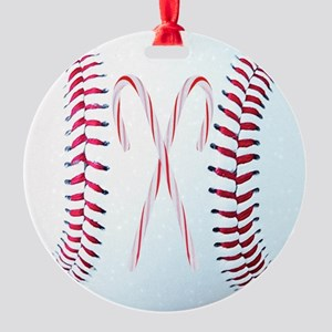 Baseball Christmas Ornaments, Magne Round Ornament