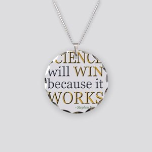 science-win-hawking Necklace Circle Charm