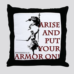 put-your-armor-on Throw Pillow