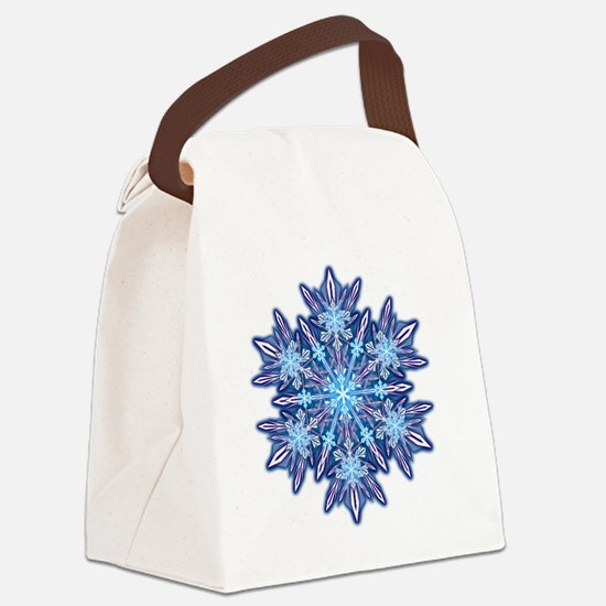 Snowflake Designs - 012 - transpa Canvas Lunch Bag