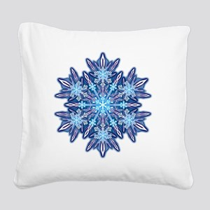 Snowflake Designs - 012 - tra Square Canvas Pillow