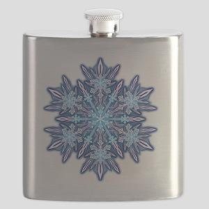 Snowflake Designs - 012 - transparent Flask